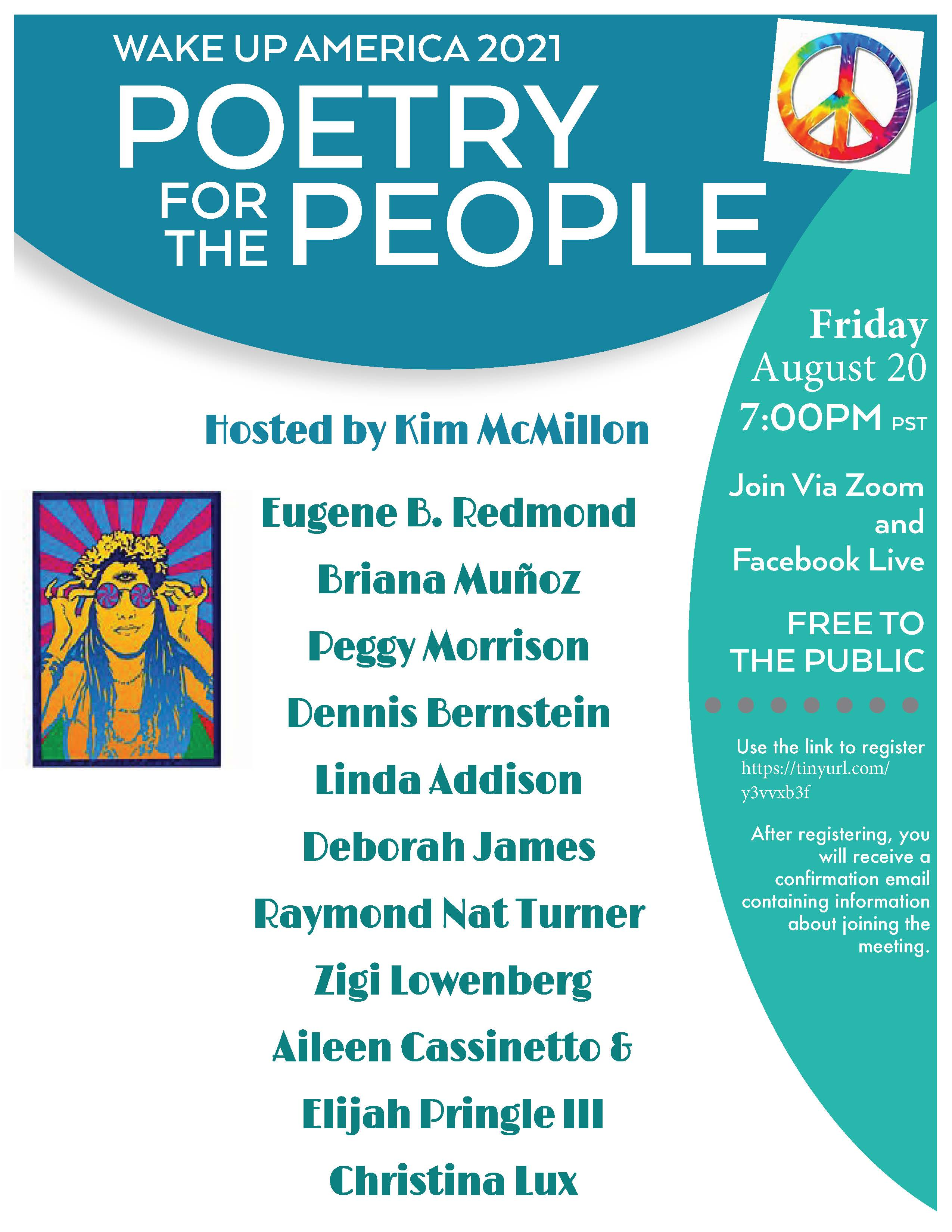 Wake Up America Poetry for the People draft August 20 7pm Revised Revised